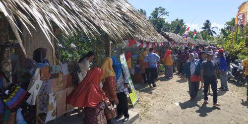 Meriahkan Hari Kemerdekaan RI ke-74, Desa Wisata Margacinta Kab Pangandaran Gelar Pameran Tradisional
