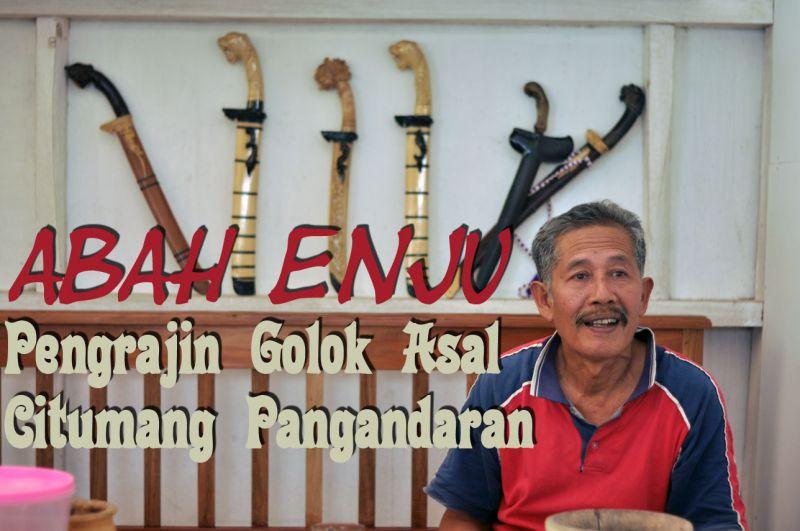 Abah Enju, Maestro Wayang Golek dan Kisah Golok Ukir Pangandaran
