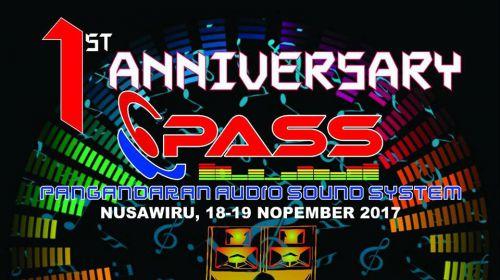 1st Anniversary Pangandaran Audio Sound System (PASS)