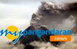 Abu Vulkanik Turun, Pantai Pangandaran Sepi