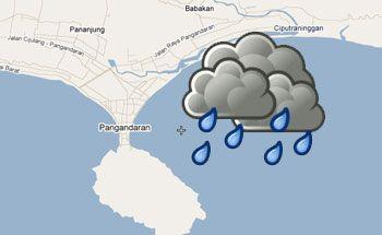Akhir Pekan, Pangandaran diperkirakan Hujan Sedang