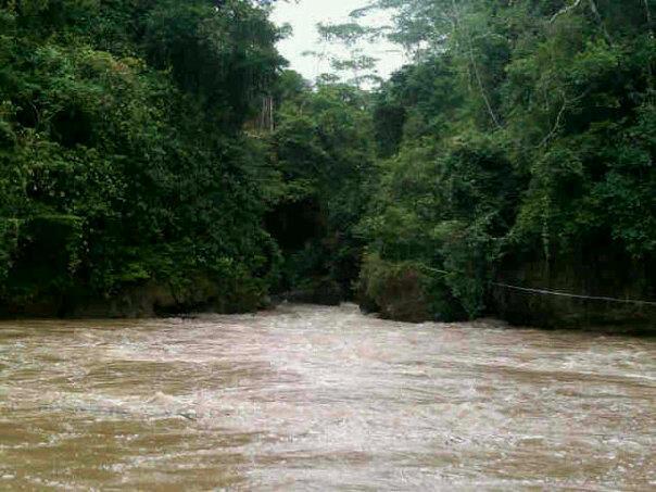 Akibat Hujan, Debit  Air Green Canyon Naik