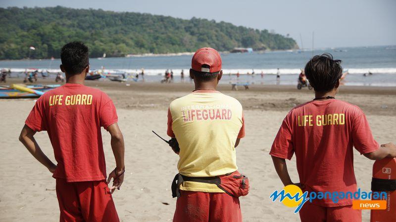 Balawista Pangandaran : H+1 Lebaran Pantai Pangandaran Nihil Lakalaut
