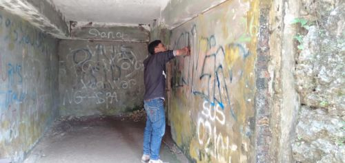 Bikin Geram! Aksi Vandalisme Ganggu Pelestarian Cagar Budaya Pangandaran