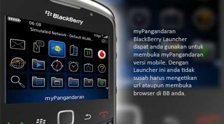 BlackBerry Launcher untuk myPangandaran Hadir Untuk Anda