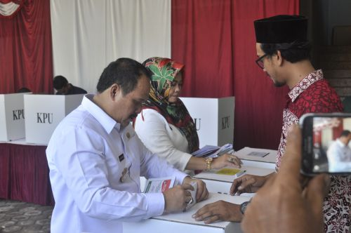 Bupati Pangandaran Jeje Wiradinata Targetkan 80 % Masyarakat Gunakan Hak Pilihnya di Pemilu 2019
