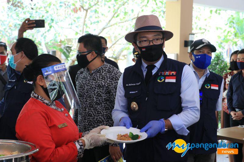 Cek AKB di Pangandaran, Ini Alasan Ridwan Kamil Larang Prasmanan di Hotel