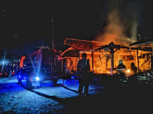 Diduga Depresi, Pria Paruh Baya Bakar Ruko di Pasar Wisata Pangandaran