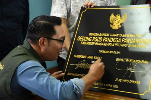 Diresmikan Ridwan Kamil, RSUD Pandega Rumah Sakit Pertama di Pangandaran