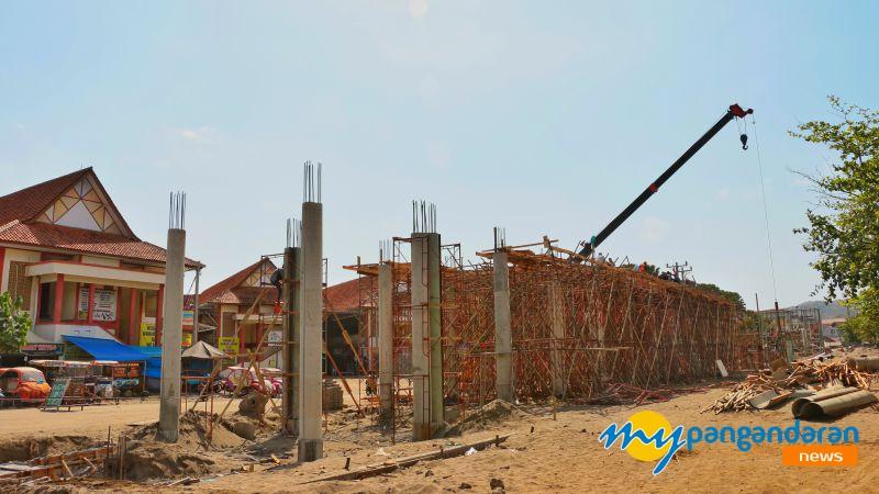 FOTO: Potret Terkini Proyek Skywalk Pangandaran