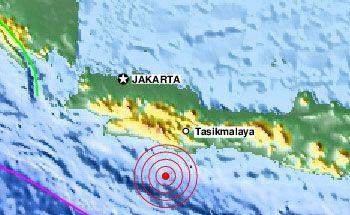Gempa 4,7 SR di Pangandaran Berpusat di Selatan Tasikmalaya