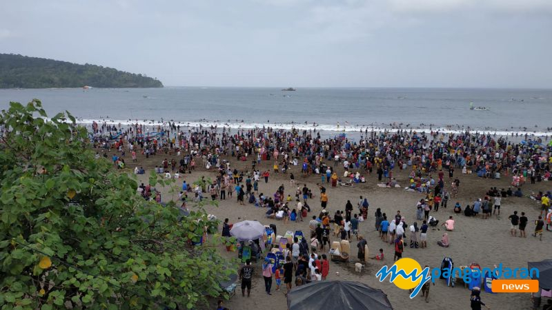 H+2 Lebaran, Pantai Pangandaran DidominasiWisatawan Domestik