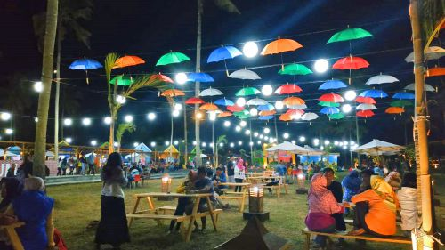 Hooba Beach Foodcourt, Wisata Kuliner Kekinian di Pangandaran