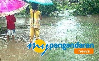 Hujan Deras, Beberapa Wilayah di  Pangandaran Tergenang Banjir