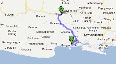 Jalan Banjar-Pangandaran Masih Rusak dan Berbahaya