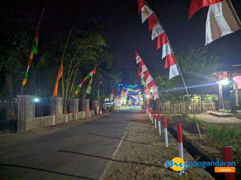 Meriah, Warga Bojonggebang Pangandaran Sambut HUT RI ke-74