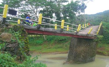 Jembatan Jalur Purwokerto-Pangandaran Ambles