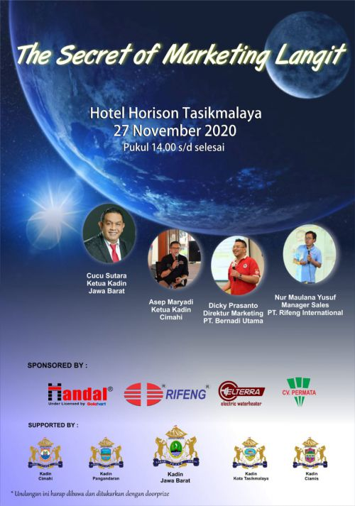 Kadin Gelar Seminar Bertema The Secret of Marketing Langit, Yuk Ikutan