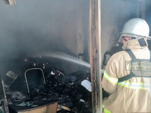 Kantor Dinas PU Pangandaran Terbakar