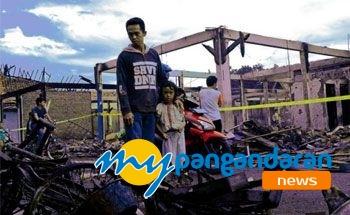 Kerugian Kebakaran Pasar Wisata Pangandaran Rp1,80M