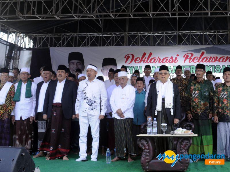 KH Ma`ruf Amin Hadiri Deklarasi Relawan Kyai dan Santri (KISAN) se Kabupaten Pangandaran