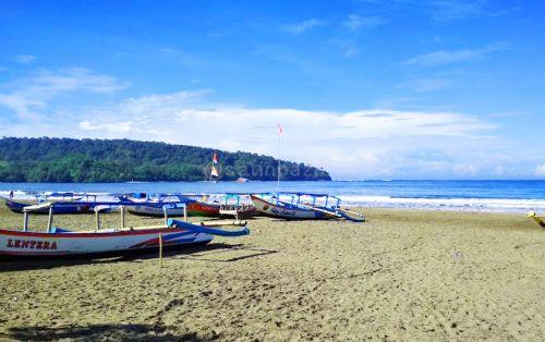 Cerah Merona, Cuaca Objek Wisata Pantai Pangandaran Hari Ini