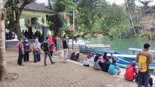 Ramai Pengunjung, Objek Wisata Green Canyon Pangandaran Pasca Gempa Banten 7,4 SR