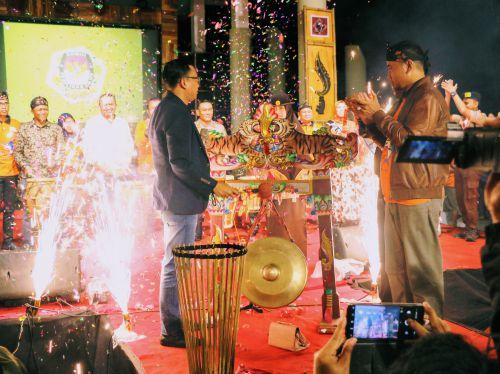 Meriah, KPU Pangandaran Launching Tahapan Pilkada 2020