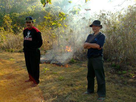 Lindungi Habitat Rusa, BKSDA Pangandaran Bakar Hutan