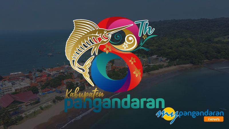 Makna Arti Logo 8 Tahun Kabupaten Pangandaran, Download Disini