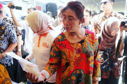 Mentri Susi Hadiri Puncak Gemasatukata Di Pangandaran