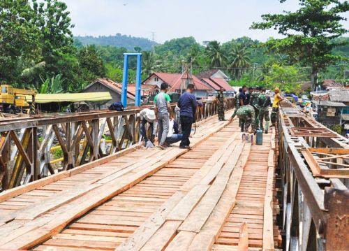 Minggu Depan Jembatan Bailey Putrapinggan Pangandaran Bisa Dilewati