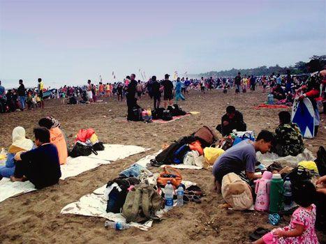 Objek Wisata Pantai Pangandaran di Perkirakan Ramai Akhir Pekan Ini