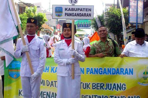 Pangandaran Ikuti Defile MTQ  Provinsi Jawa Barat Ke-34