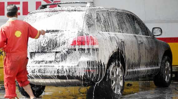 Pangandaran Yang Berdebu, Tukang Cuci Mobil/Motor Laris Manis
