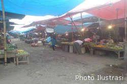 Sepertiga Pasar Tradisional Ciamis Tutup