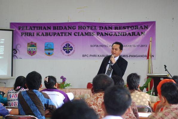 Pelatihan Bidang Hotel dan Restaurant Kabupaten Ciamis-Pangandaran