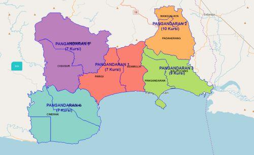 Pemilihan Legislatif 2019, Pangandaran Dibagi Menjadi 5 Daerah Pemilihan