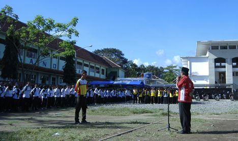 Pengukuhan FK PMR Wira Kabupaten Pangandaran