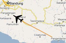 Pesawat Hilang di Pangalengan Terbang Dari Nusawiru