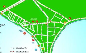 Peta Arus Lalu Lintas Tahun Baru di Pangandaran