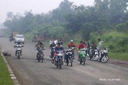 Polsek Pangandaran Gencar Patroli, Geng Motor Tiarap