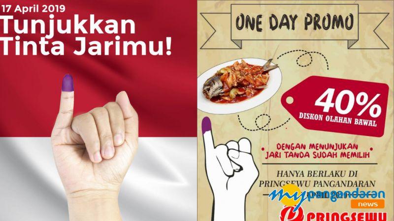 Promo Pemilu 2019, Makan Murah di Pringsewu Pangandaran
