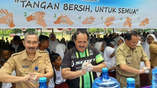 Ratusan Siswa dan Siswi se-Kabupaten Pangandaran Ikuti Gebyar Hari Cuci Tangan Sedunia