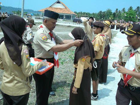 Ratusan Siswa SD dan SLTP Se Kecamatan Pangandaran Ikuti Lomba Pramuka Tingkat II