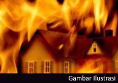 Rumah Janda di Cijulang Terbakar