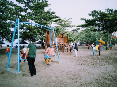 Ada Taman Bermain Mini di Pantai Barat Pangandaran