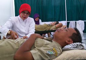 Warga Antusias Donor Darah